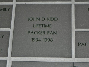 Tile at Lambeau for my Father.  Thanks to my sister.