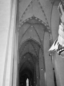 Interior of Cathedral with corner of Votive Ship