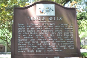 Song writer James L. Pierpont, most famous for the lyrics Of Jingle Bell's  lived in Savannah.