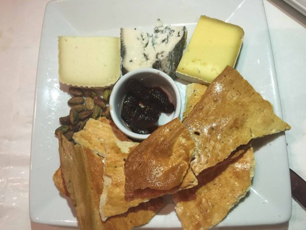Herbsainte-cheese plate dessert