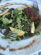 This salad with pears, glazed walnuts, and brie cheese was outstanding.
