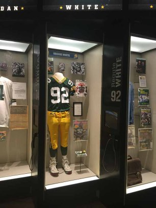 Reggie White's Hall of Fame locker