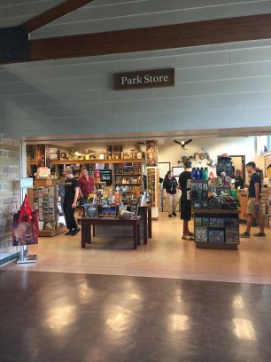 Mammoth Cave Shop. In my recent memory, this was the nicest National Park Shop that I have visited. No time to shop