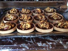 Chocolate Caramel Nut Tart at Chez Fonfon