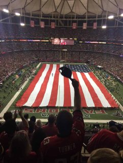 Star Spangled Banner at The Georgia Dome