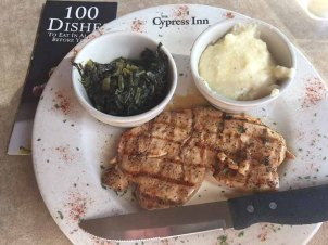 Chicken with white BBQ sauce at The Cypress Inn