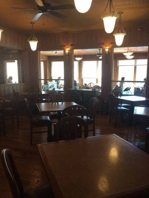 The large dining rooms area of The Cypress Inn