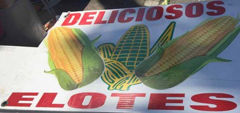 Elotes Roasted Corn Sign