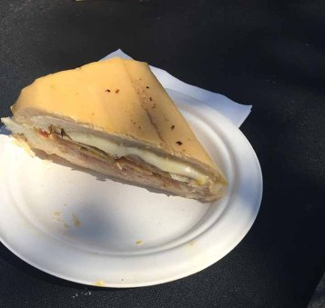 1/4 of a cuban sandwich.