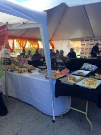 The Cuban Sandwich Smackdown Judging area and VIP Tent