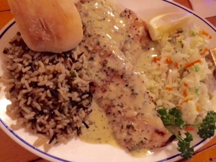 Jubilee Seafood Destin Pampano Fish with Tarragon Butter.
