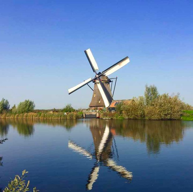 Kinderdijk on water