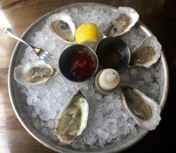 Half-a-dozen Edisto South Carolina Oysters just for me! The Obstinate Daughter Sullivan's Island S.C.