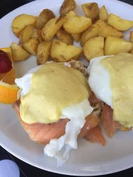 Mon Amie of Spartanburg serves a delicious Smoked Salmon Benedict