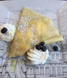 Mon Amie of Spartanburg Meyer Lemon and blueberry Crepe