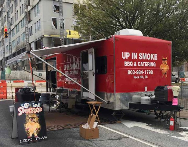 *Up In Smoke* Food Truck at Spartanburg's Hub City Hog Fest 2018