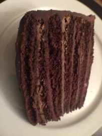 Caroline's Cakes Spartanburg S.C. Chocolate Layer Cake.