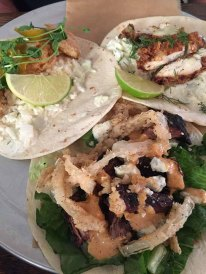 Three Tapas Style Specialty Tacos of Farmhouse Tacos - Travelers Rest SC