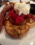 Not the ho-hum French Toast and bacon at Poogan's Porch Charleston, SC